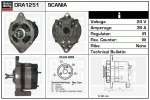 Alternator DRA1251 SCANIA 0986031250