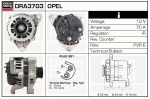 Alternator DRA3703 Opel