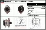 Alternator DRB6150 Opel , Saab , 0986042800
