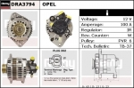 Alternator DRA3794 Opel , 0986043981