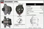 Alternator DRA8600 Opel , 0986038600
